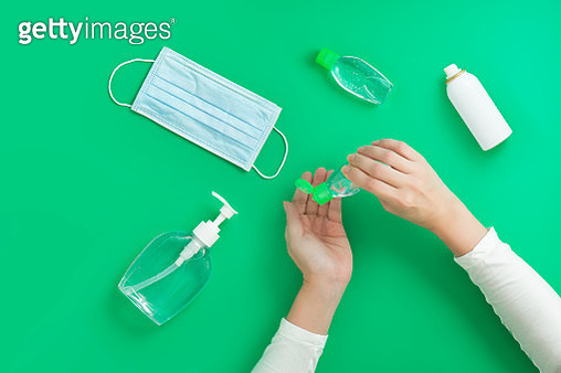 Covid-19 disinfection concept still life image. - gettyimageskorea