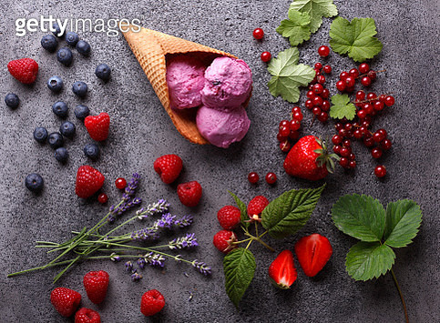 Homemade Organic Fruit Ice Cream - gettyimageskorea