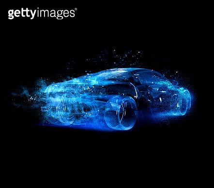 Car glass blue - gettyimageskorea