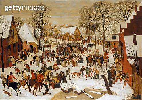 A Winter Scene with Massacre of the Innocents - gettyimageskorea