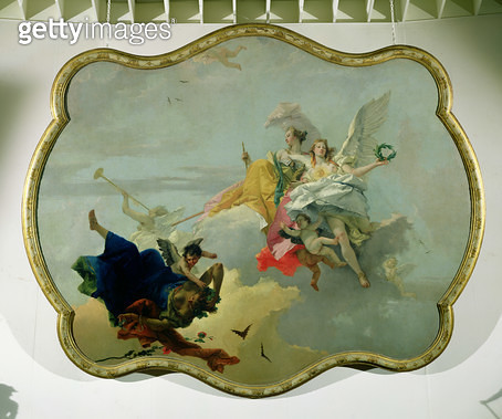 <b>Title</b> : Triumph of Virtue and Nobility (oil on canvas)<br><b>Medium</b> : <br><b>Location</b> : Norton Simon Collection, Pasadena, CA, USA<br> - gettyimageskorea