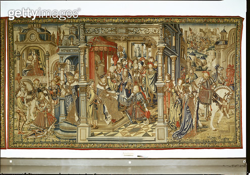 <b>Title</b> : David's sons Amnon and Absalom declare war on each other, tapestry of David and Bathsheba, c.1510-15 (tapestry)<br><b>Medium</b> : <br><b>Location</b> : Musee National de la Renaissance, Ecouen, France<br> - gettyimageskorea