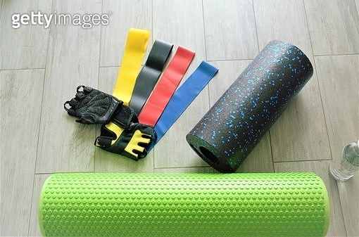 Close-up of sports equipment on table - gettyimageskorea