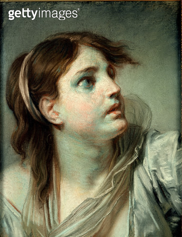 <b>Title</b> : Head of a Young Girl (pastel on paper)<br><b>Medium</b> : pastel on paper<br><b>Location</b> : Louvre, Paris, France<br> - gettyimageskorea