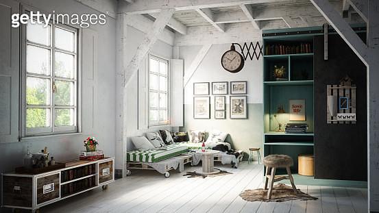 Warm and Cozy Scandinavian Interior - gettyimageskorea