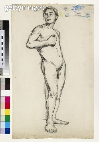 <b>Title</b> : Male Nude (charcoal on paper)<br><b>Medium</b> : charcoal on paper<br><b>Location</b> : Ashmolean Museum, University of Oxford, UK<br> - gettyimageskorea