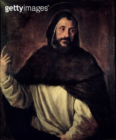 <b>Title</b> : St. Dominic (1170-1221) (oil on canvas)Additional Infofounder of the Dominican Order;<br><b>Medium</b> : oil on canvas<br><b>Location</b> : Galleria Borghese, Rome, Italy<br> - gettyimageskorea