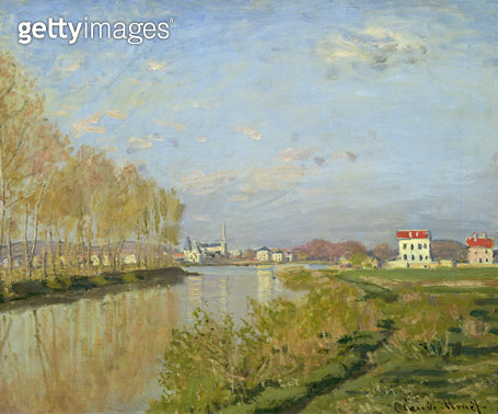 <b>Title</b> : The Seine at Argenteuil, 1873 (oil on canvas)<br><b>Medium</b> : oil on canvas<br><b>Location</b> : Musee d'Orsay, Paris, France<br> - gettyimageskorea