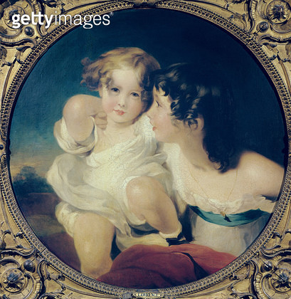 The Calmady Children (oil on canvas) - gettyimageskorea