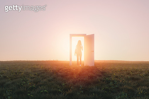 Mysterious meadow passage - gettyimageskorea