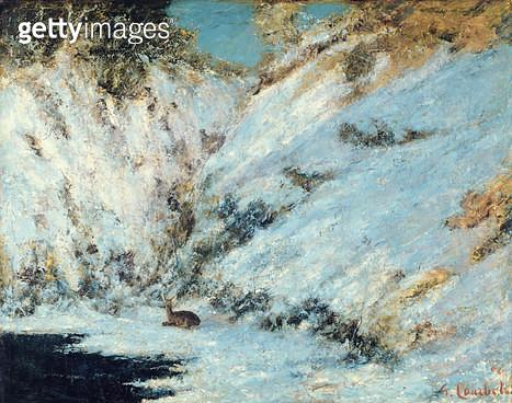 <b>Title</b> : Snowy Landscape, 1866 (oil on canvas)<br><b>Medium</b> : oil on canvas<br><b>Location</b> : Musee d'Art Moderne, Troyes, France<br> - gettyimageskorea