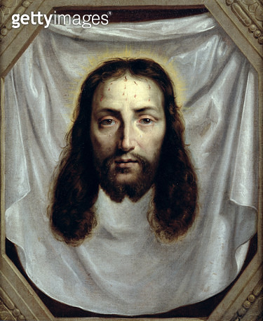 <b>Title</b> : The Shroud of St. Veronica (oil on canvas)<br><b>Medium</b> : oil on canvas<br><b>Location</b> : Musee des Beaux-Arts, Caen, France<br> - gettyimageskorea