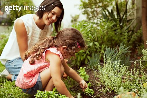 Mother and daughter gardening - gettyimageskorea