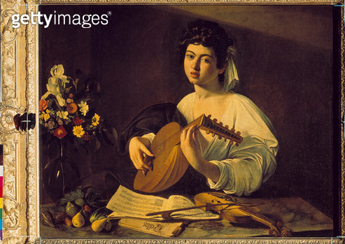 Young lute player. About 1595 - gettyimageskorea