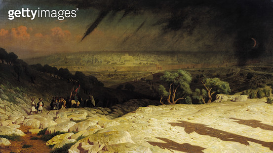 <b>Title</b> : Jerusalem (Golgotha, Consummatum Est, Crucifixion) 1867 (oil on canvas)<br><b>Medium</b> : oil on canvas<br><b>Location</b> : Musee d'Orsay, Paris, France<br> - gettyimageskorea