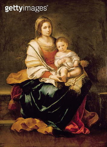 The Virgin of the Rosary (oil on canvas) - gettyimageskorea