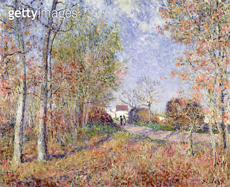<b>Title</b> : A Corner of the Woods at Sablons, 1883 (oil on canvas)<br><b>Medium</b> : oil on canvas<br><b>Location</b> : Musee d'Orsay, Paris, France<br> - gettyimageskorea