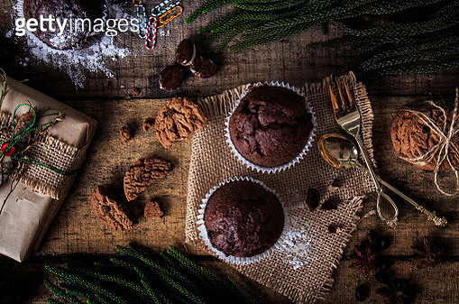 Muffins and chocolate cookies - gettyimageskorea