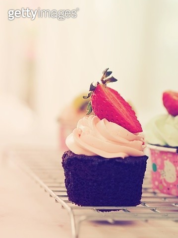 Close-Up Of Cupcakes On Table - gettyimageskorea