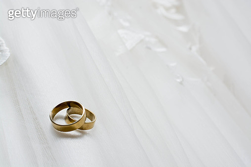 Close-Up Of Rings On Textile - gettyimageskorea