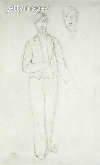 <b>Title</b> : Portrait of George Moore (1852-1933) (pencil on paper)Additional Infostudied art with Degas, Manet, Renoir & Monet in Paris;<br><b>Medium</b> : pencil on paper<br><b>Location</b> : Ashmolean Museum, University of Oxford, UK<br> - gettyimageskorea