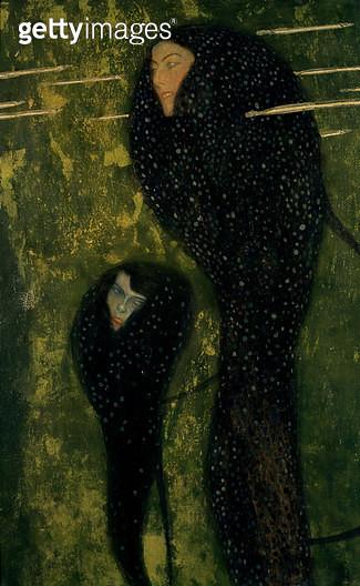 <b>Title</b> : Water Sprites, 1899 (oil on canvas)<br><b>Medium</b> : oil on canvas<br><b>Location</b> : Zentralsparkasse-Bank, Vienna, Austria<br> - gettyimageskorea