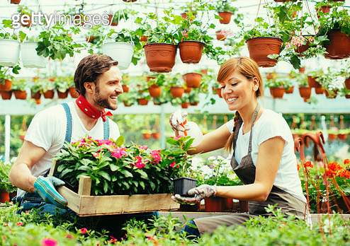 Young Couple Plant Nursery Startup Business - gettyimageskorea