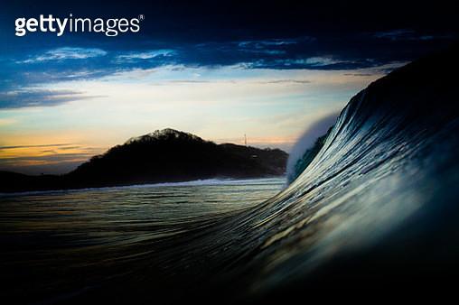Nicaragua Surf Coastline Sunset - gettyimageskorea