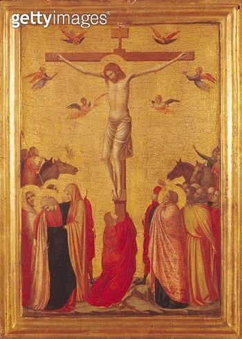 <b>Title</b> : The Crucifixion (tempera on panel)<br><b>Medium</b> : <br><b>Location</b> : Musee des Beaux-Arts, Strasbourg, France<br> - gettyimageskorea