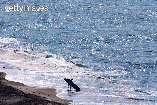The surfer on the beach in Pacific Ocean in Japan - gettyimageskorea