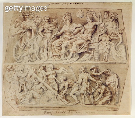 <b>Title</b> : Drawing of the Gemma Augustea (pen & ink and pencil on paper)Additional Infogemma augustea is in Kunsthistorisches, Vienna; Roma<br><b>Medium</b> : pen and ink and pencil on paper<br><b>Location</b> : Lubeck Museum, Germany<br> - gettyimageskorea