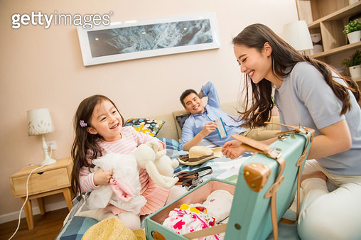 Happy families ready to travel - gettyimageskorea