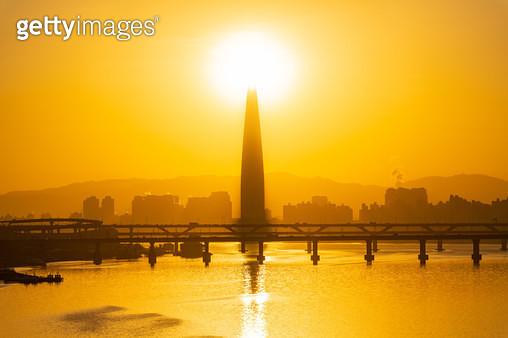 한강 일출, 서울특별시 한강 - gettyimageskorea