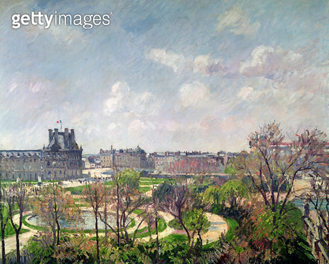 <b>Title</b> : The Garden of the Tuileries, Morning, Spring, 1900 (oil on canvas)Additional InfoJardin des Tuileries, Matin, Printemps;<br><b>Medium</b> : oil on canvas<br><b>Location</b> : Private Collection<br> - gettyimageskorea