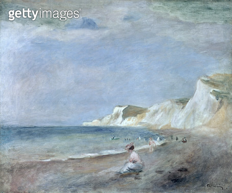 <b>Title</b> : The Beach at Varangeville, c.1880 (oil on canvas)<br><b>Medium</b> : oil on canvas<br><b>Location</b> : Private Collection<br> - gettyimageskorea