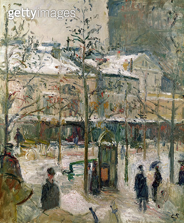 <b>Title</b> : Boulevard de Rocheouart in Snow, 1878 (oil on canvas)Additional InfoLe boulevard de Rocheouart de neige;<br><b>Medium</b> : oil on canvas<br><b>Location</b> : Private Collection<br> - gettyimageskorea