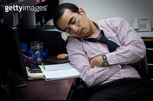 Man sleep on office - gettyimageskorea