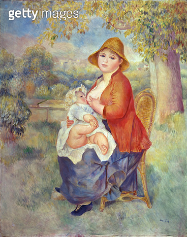 <b>Title</b> : Maternity, 1885 (oil on canvas)<br><b>Medium</b> : oil on canvas<br><b>Location</b> : Private Collection<br> - gettyimageskorea