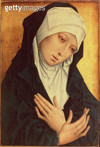 <b>Title</b> : Mater Dolorosa (oil on panel)<br><b>Medium</b> : oil on panel<br><b>Location</b> : Private Collection<br> - gettyimageskorea