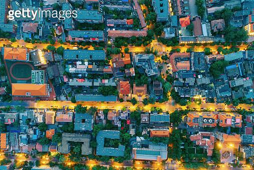 Aerial view of residential building - gettyimageskorea