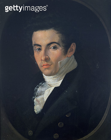 Portrait of Vincenzo Bellini (oil on canvas) - gettyimageskorea