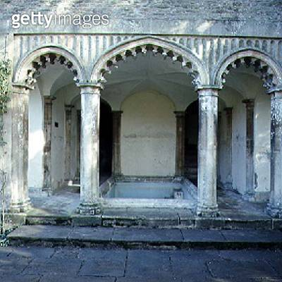 <b>Title</b> : View of the exterior of the Bath House, built c.1760, later altered by John Nash and Humphry Repton (photo)<br><b>Medium</b> : <br><b>Location</b> : Corsham Court, Wiltshire<br> - gettyimageskorea