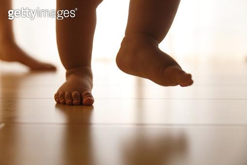 Baby learning to walk - gettyimageskorea