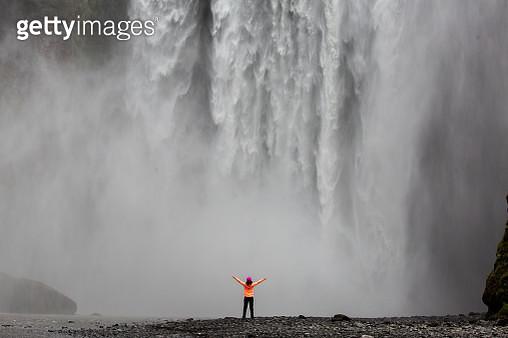 Skogafoss Waterfall - gettyimageskorea