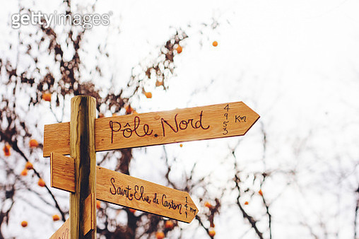 North Pole wooden Sign - gettyimageskorea