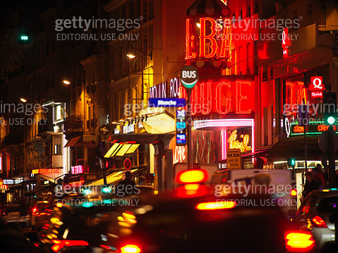 Pigalle district in Paris at night - gettyimageskorea