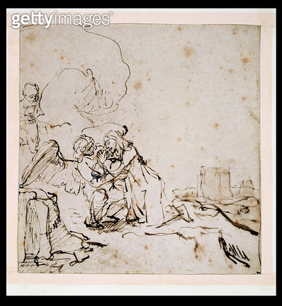 <b>Title</b> : 2140 The Agony in the Garden, c.1650-60 (pen & ink with wash on paper)<br><b>Medium</b> : pen and ink with brown wash on paper<br><b>Location</b> : Fitzwilliam Museum, University of Cambridge, UK<br> - gettyimageskorea