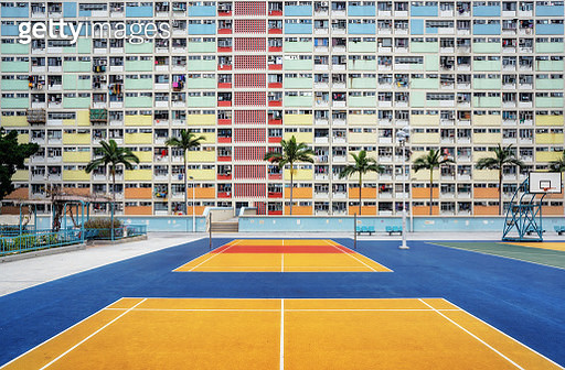 A public housing estate called Choi Hung in Hong Kong, Kowloon. - gettyimageskorea