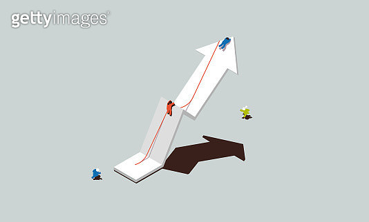 Business Success Arrow Pointing Up - gettyimageskorea