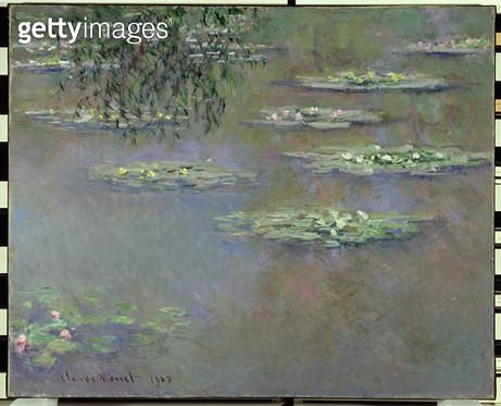<b>Title</b> : Waterlilies, 1903 (oil on canvas)<br><b>Medium</b> : oil on canvas<br><b>Location</b> : The Dayton Art Institute, Dayton, Ohio, USA<br> - gettyimageskorea